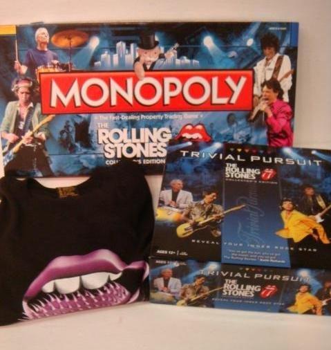 82: ROLLING STONES MEMORBILIA ;Monopoly & Trivial Pursu