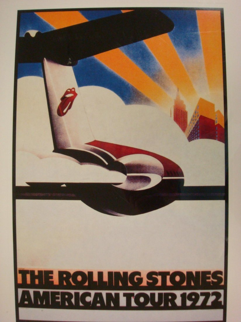 85: Rolling Stones L.P. Lithograph Print 1984: