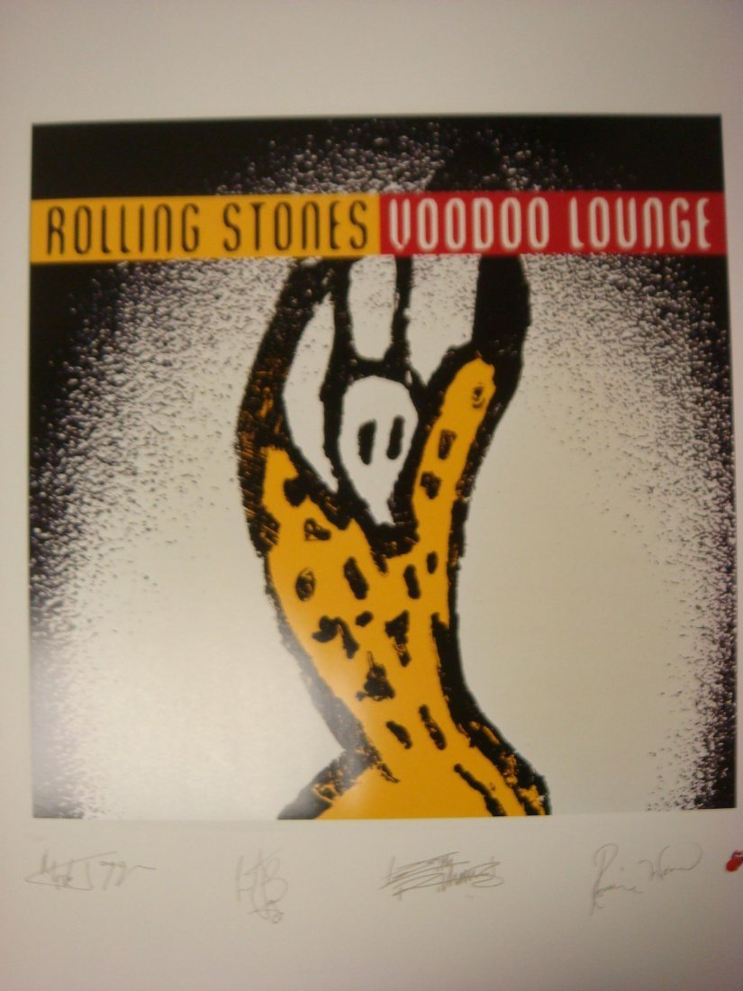 88: Rolling Stones L.P. Lithograph Print 1994 Voodoo Lo