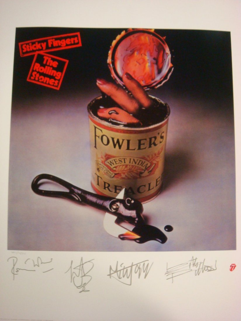 89: Rolling Stones L.P. Lithograph Print 1971 Sticky Fi
