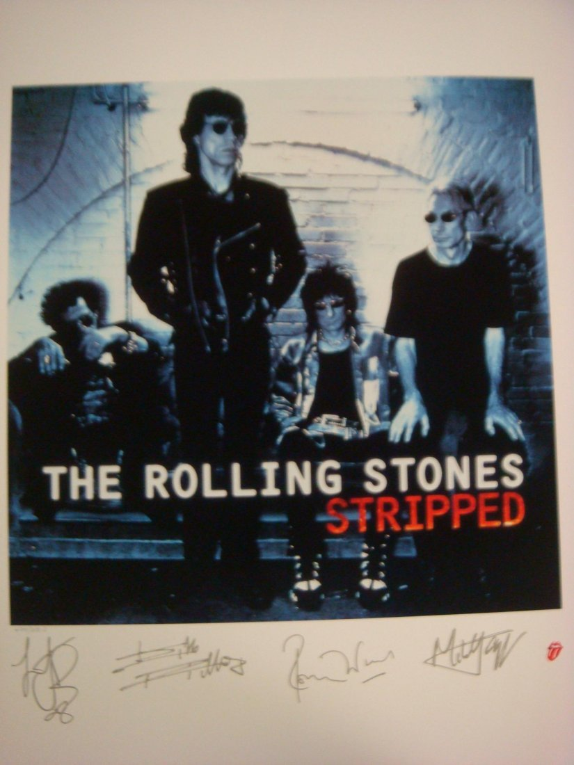 90: Rolling Stones L.P. Lithograph Print 1995 Stripped: