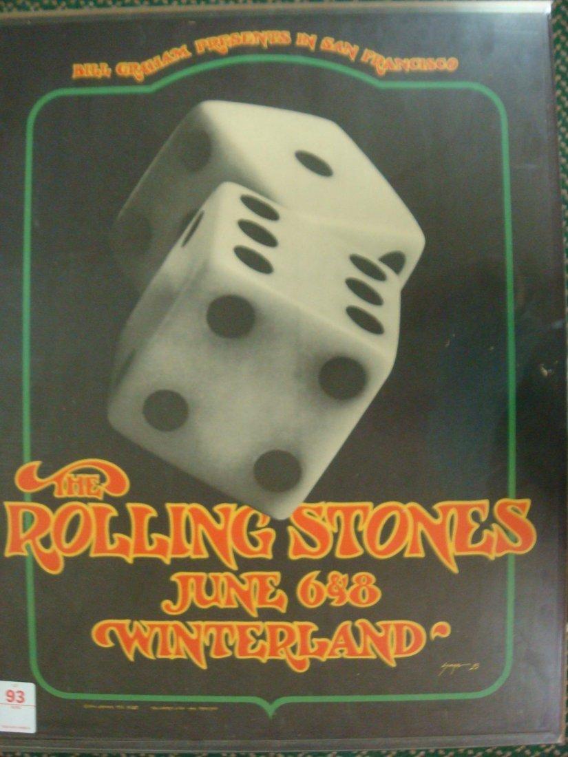 93: Rolling Stones Concert Poster June 6 & 8th 1972: