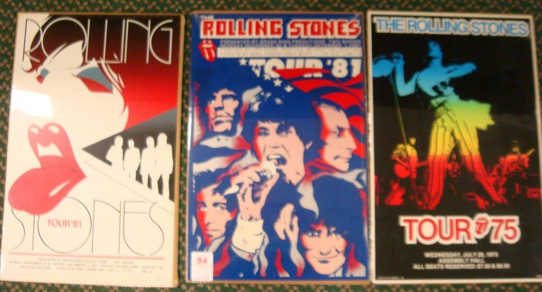 94: The Rolling Stones Tour '81 Silverdome Concert Post