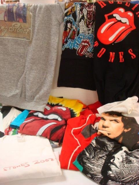 209: Collection of Vintage Rock and Roll T-Shirts: