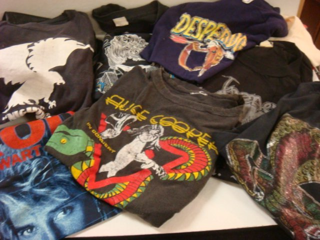 210: Collection of Vintage Rock and Roll T-Shirts: