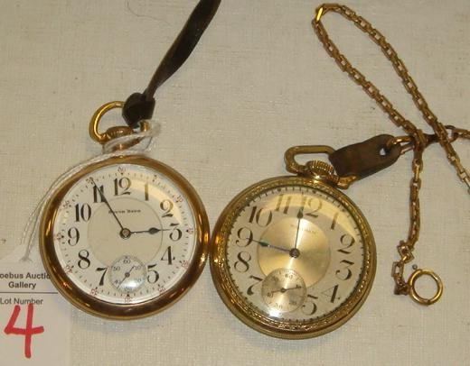 4: WALTHAM & SOUTH BEND Pocket Watches: