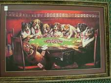 145B FRIEND IN NEED Poker Playing Dogs Print