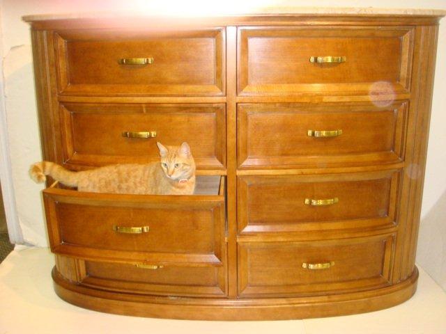 250: CENTURY Furniture Marble Top Dresser and Nightstan - 2