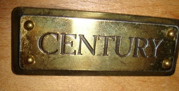 250: CENTURY Furniture Marble Top Dresser and Nightstan - 3