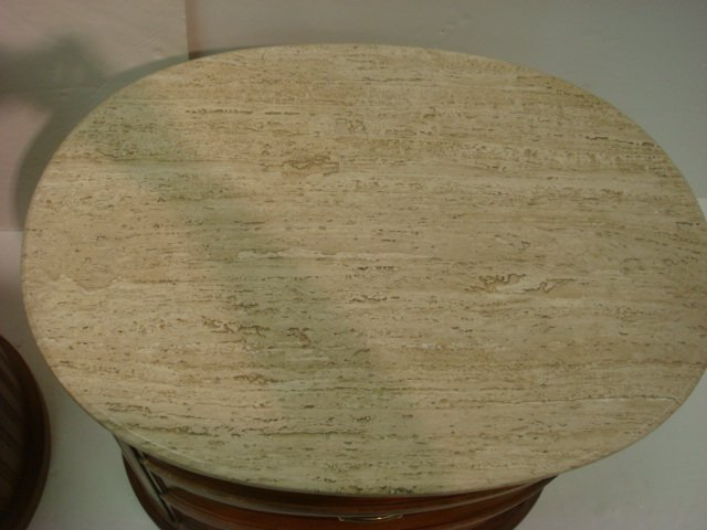 250: CENTURY Furniture Marble Top Dresser and Nightstan - 5