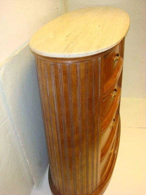 250: CENTURY Furniture Marble Top Dresser and Nightstan - 7