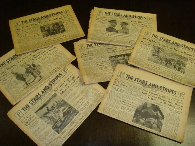 271: Collection of WWII STARS & STRIPES Newspapers: