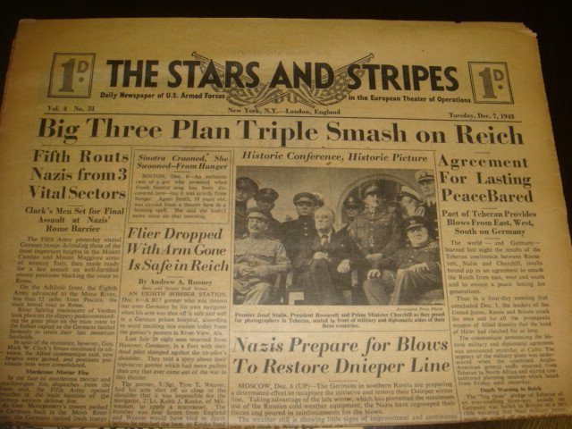 271: Collection of WWII STARS & STRIPES Newspapers: - 2