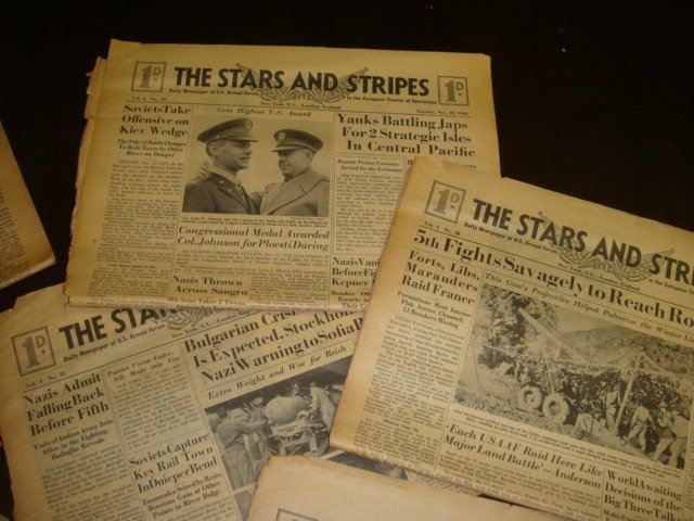 271: Collection of WWII STARS & STRIPES Newspapers: - 3