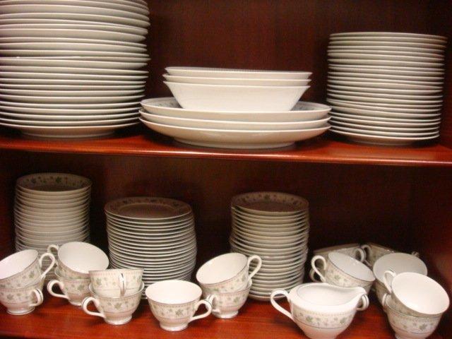 9: ROSE CHINA Springtime Dinnerware Set, 162 Pieces:
