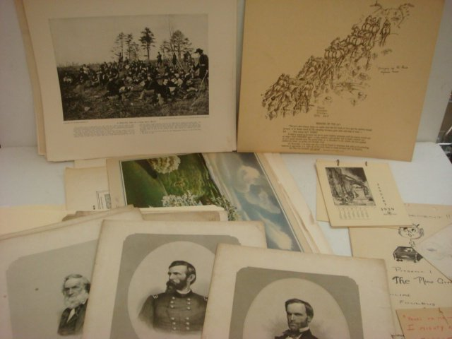 11: Collection of Prints from Civil War & World War I: