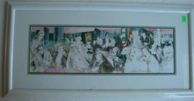 15: Pencil Signed LEROY NEIMAN Polo Lounge Lithograph: