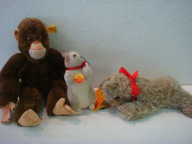 24: STEIFF Zotty Bear, Fiep Mouse, Jocko Monkey: