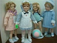 69: 4 Limited Edition Porcelain Shirley Temple Dolls: