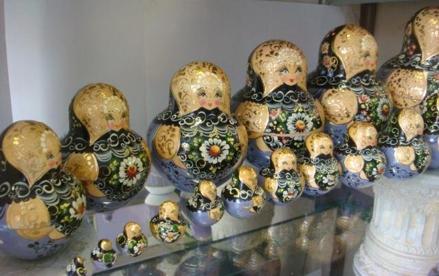 89: Signed 20 Piece Matryoshka Russian Stacking Dolls: