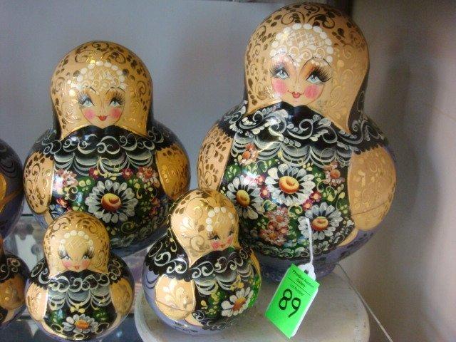 89: Signed 20 Piece Matryoshka Russian Stacking Dolls: - 2