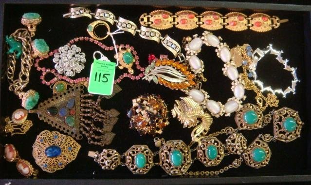 115: Assortment of Ladies Costume Jewelry: