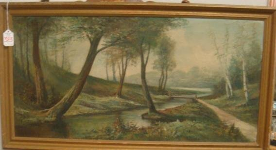 323: Signed FREDERICK MATZOW Landscape Oil on Canvas: