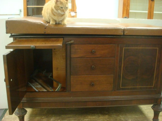 390: Vintage OBGYN Examining Table with Stirrups: - 3