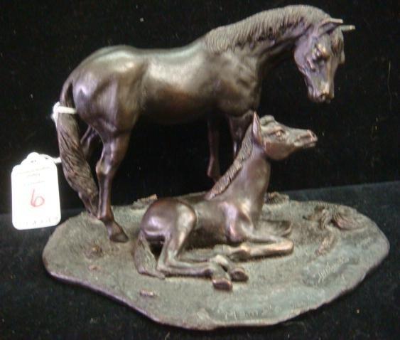 6: DD EDWARDS Limited Edition Bronze Mama's Joy Sculptu