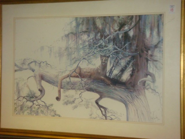 18: RUSS SMILEY Signed and Numbered Florida Puma Print: