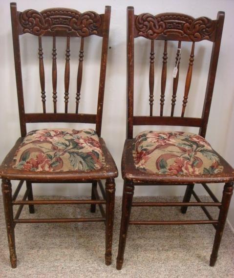 20: Pair 19th C. HEYWOOD Bros. & WAKEFIELD Side Chairs: