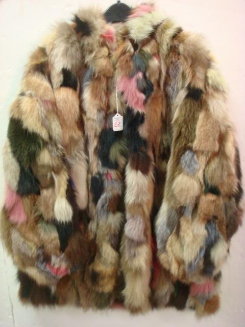 22: Multi Color Fox Fur Stroller Sectional Jacket: