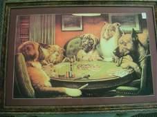 28 Dogs Playing Poker A Bold Bluff Print C M Coolidge