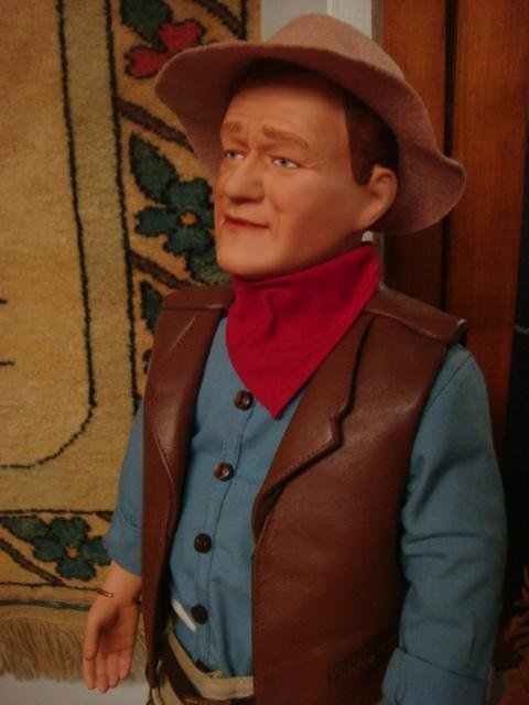 74: John Wayne, Gary Cooper HP Porcelain Collector Doll - 3