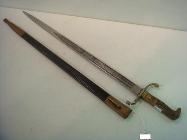 """164: German Long Bayonet marked """"W.k & Co""""."""