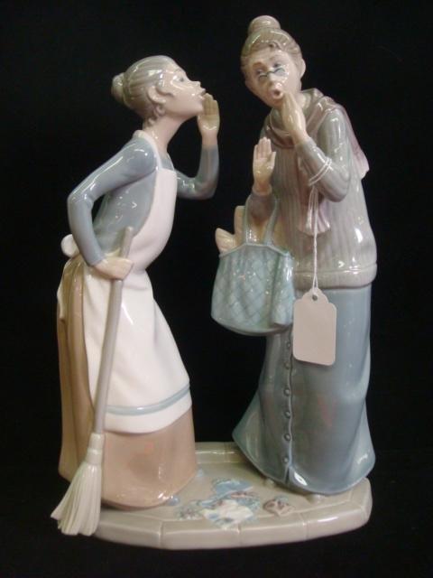 1: LLADRO Gossip #4984 Porcelain Figural Grouping: