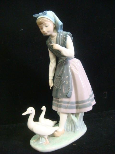 3: LLADRO Aracely with Pet Ducks #5202 Figurine: