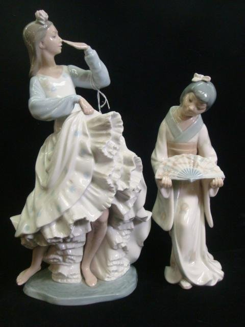 6: NAO by Lladro Japanese Girl and Flamenco Dancers: