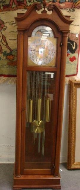 138: COLONIAL MFG CO Longcase Grandfather Clock: