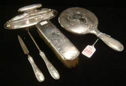 239 Six Piece GORHAM Sterling Silver Dresser Set