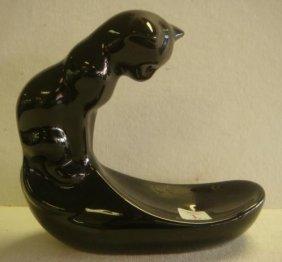 1982 VANDOR Ceramic Cat Dish: