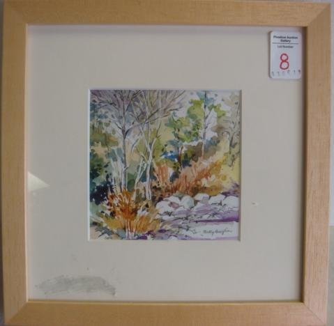 8: BETTY ANGLIN Watercolor. Light of Spring: