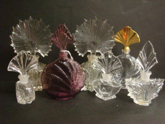 11: Fan Stopper Top Glass Perfume Bottles: