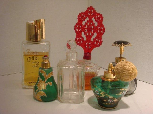 19: Six Assorted Perfume Bottles: