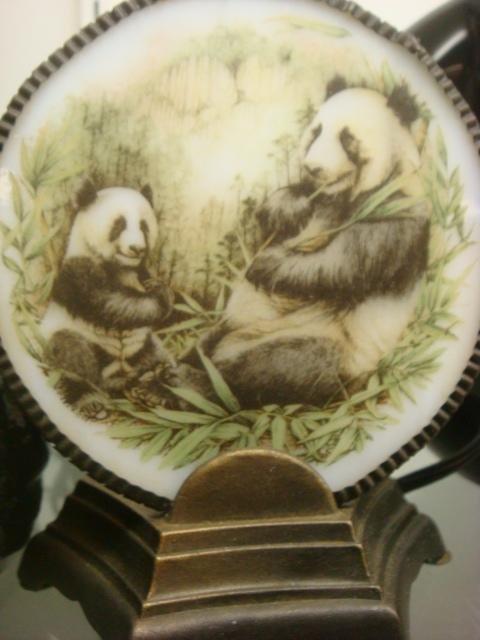 239: Panda Themed Snow Globe, Cookie Jar, Night Light: - 3