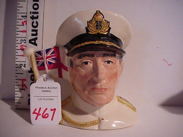 467: Earl Mountbatten, R. Doulton Jug: D6851,