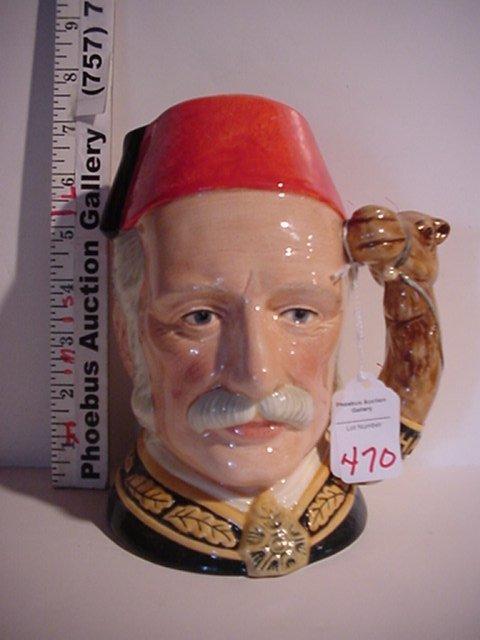 470: General Gordon, Royal Doulton Jug: D6869
