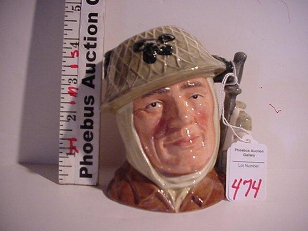 474: The Soldier, Royal Doulton Jug: D6876, S