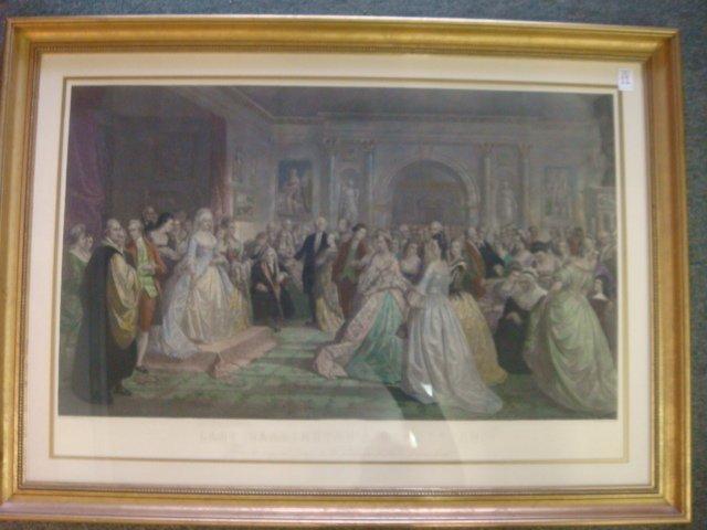 DANIEL HUNTINGTON Lady Washington's Reception Engraving