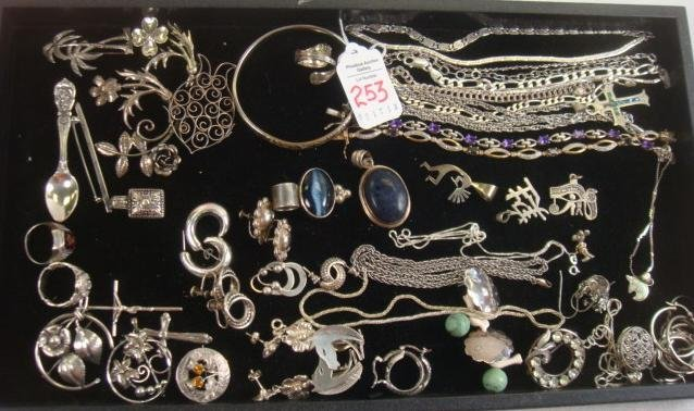 Collection of Sterling Silver Jewelry: